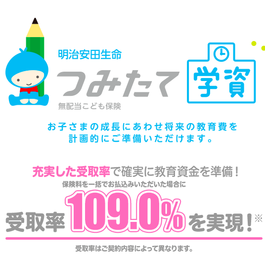 明治安田生命の学資保険を解説!口コミや返戻率シミュレーションを掲載-サムネイル画像